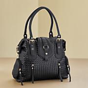 textured buckle bag