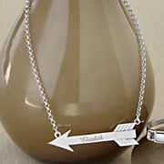 personalized arrow pendant