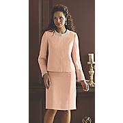pearl trim jacket dress
