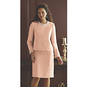 Pearl-Trim Jacket Dress