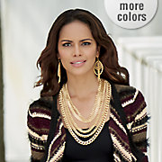 multi chain long necklace