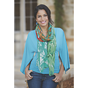 bright feather scarf