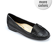 pebbled croco loafer by classique