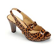 patent leopard slingback by classique 1