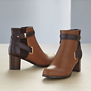 eli colorblock bootie by monroe and main
