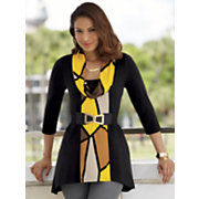 Abstract Inset Tunic