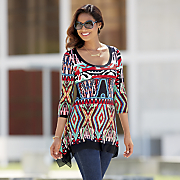 Bright Aztec Top
