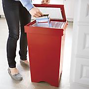 trash bin with glass door