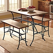 3 pc  counter height table and bench set
