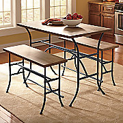 3-Piece Counter Height Table and Bench Set