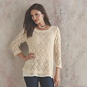mira sequined crochet sweater