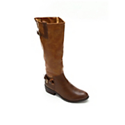 2 tone side buckle boot by two lips