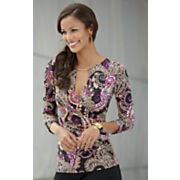 Paisley Surplice Top