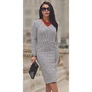 Ginger Houndstooth Dress