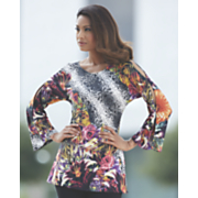 tropical knit tunic