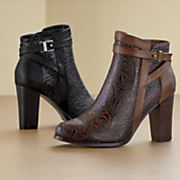 Trance Embossed Bootie by Andiamo