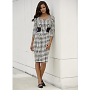 knit houndstooth dress