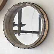 Small Rustic Round Wall Mirror