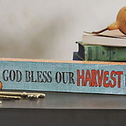 bless our harvest home sign