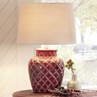 Burgundy Sunset Table Lamp