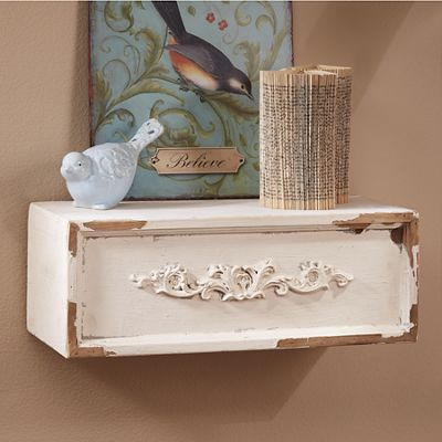 Small Distressed Floating Shelf