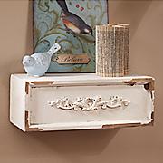 small cream shelf