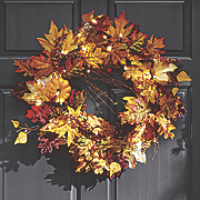 lighted fall wreath