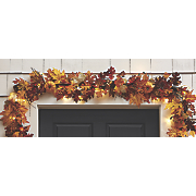 lighted fall leaves garland