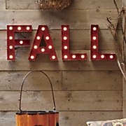 fall marquee lights