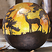 lighted woodland globe