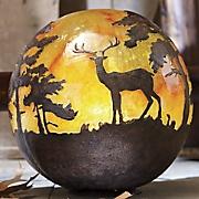 lighted woodland globe