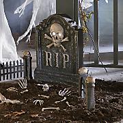 spooky cemetery set