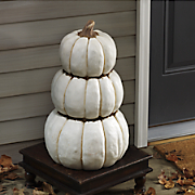 Stack of White Pumpkins