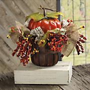 pumpkin floral basket