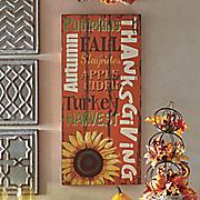 fall words wall art