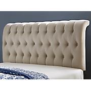ivory linen headboard