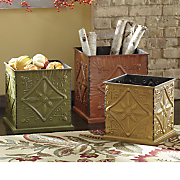 set of 3 embossed planters