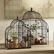 set of 2 birdcages