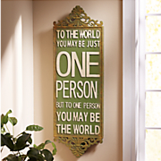 to the world wall plaque