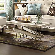 flat wheelbarrow coffee table