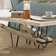 flat wheelbarrow coffee table