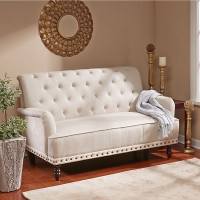 Tufted Loveseat From Midnight Velvet V9725678