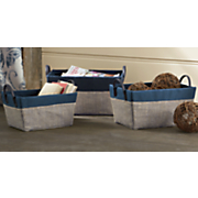 set of 3 woven totes