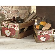 Set of 2 Honeycrisp Apple Crates
