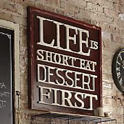 Life Is Short Wall Art