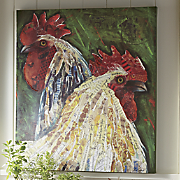 rooster   hen art