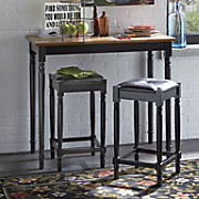 3 pc  table and stool set