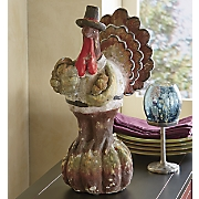 Rustic Turkey Figurine
