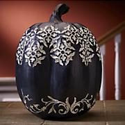 patterned black pumpkin