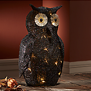 lighted black owl